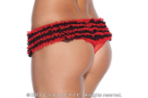 Two toned ruffled panty with centre front bow.
